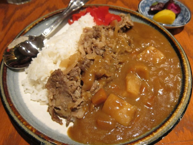 Japanese beef curry at Sushi Avenue