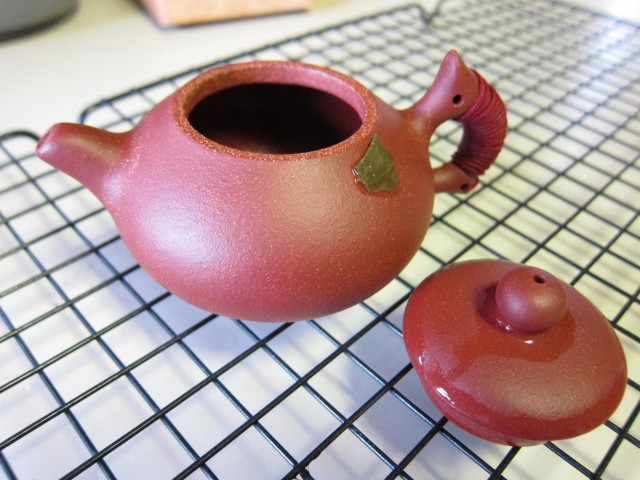 Fully seasoned Yixing teapot
