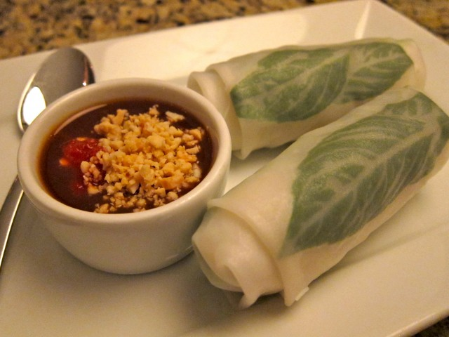 Garlic Thai spring rolls