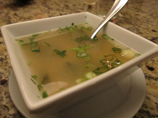 Garlic Thai miso soup
