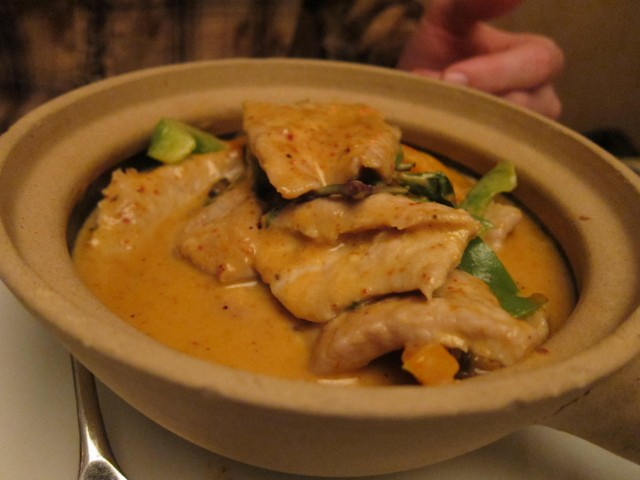 Panang curry at Garlic