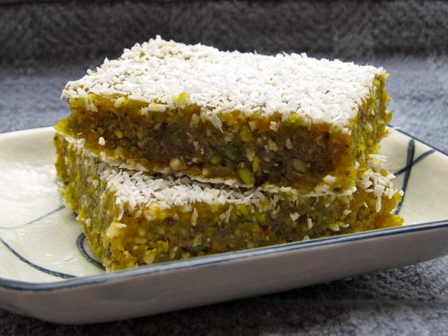 Orange pistachio bars 1