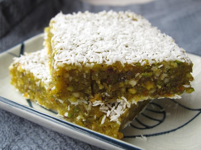 Orange pistachio bars 2
