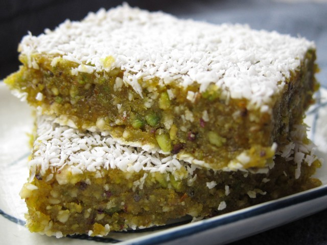 Orange pistachio bars 3