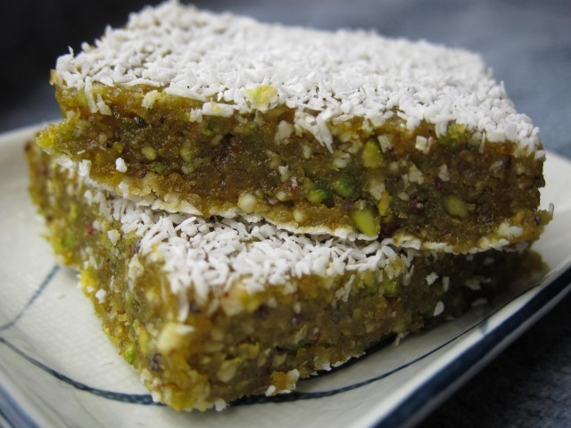 Orange pistachio bars 4