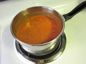 Heating up tomato soup