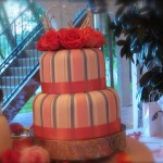 Fade edge wedding cake