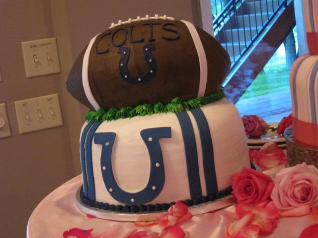 Groom's cake Colts