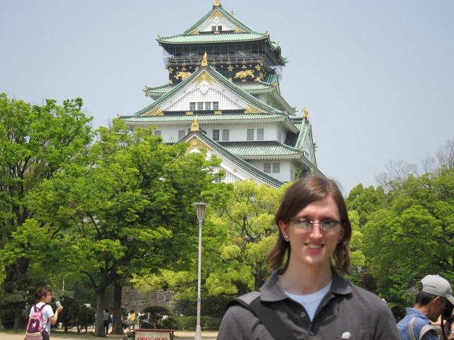 Jeff in front of Osaka Castle