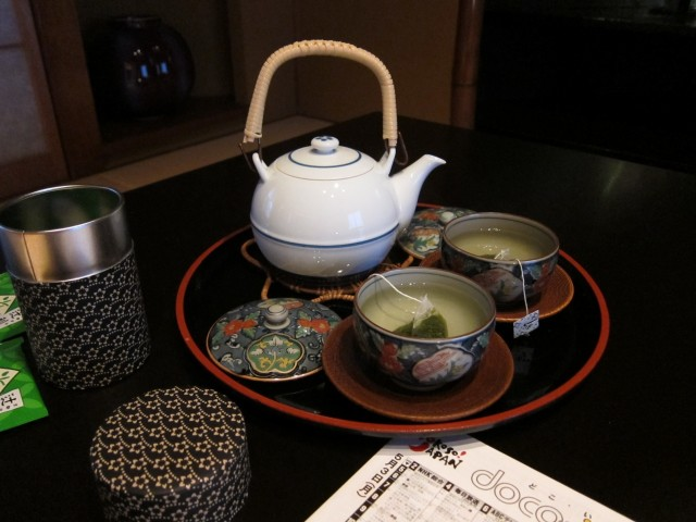 Tea set in Hotel Ichiei