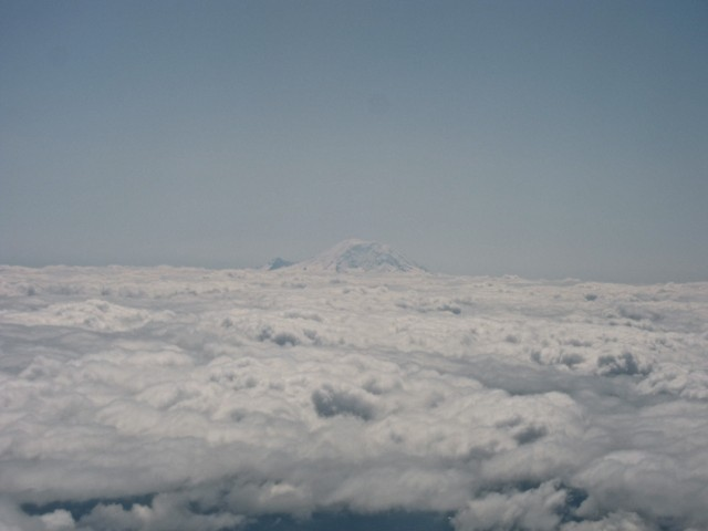 Mt. Rainier from plane