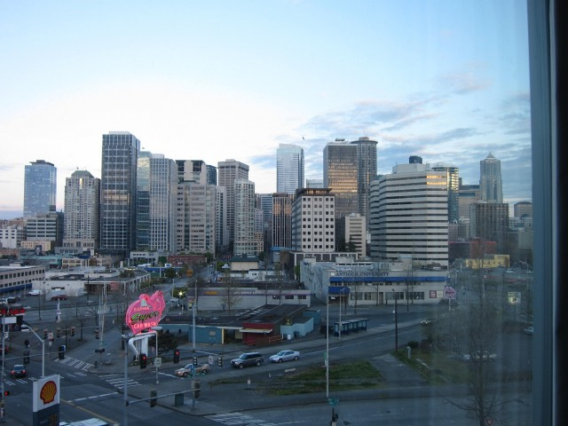 Seattle from hotel window