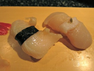 Shiro's geoduck and scallop