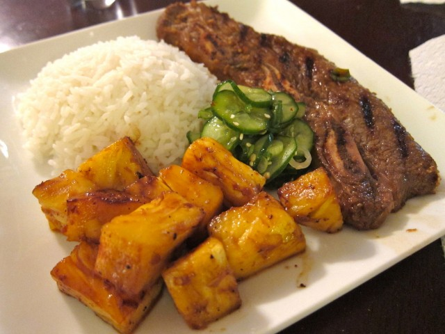 Short ribs with pineapple and quick pickles