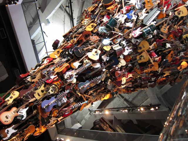 Tower of guitars