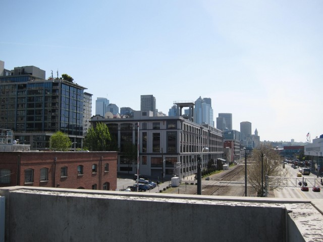 View of city from sculpture park