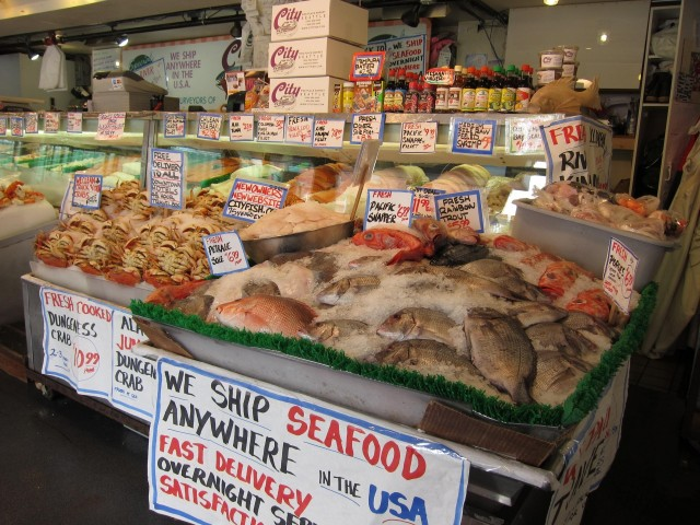Whole fish at Pike Place