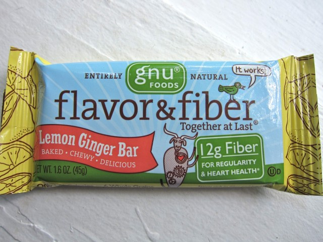 Gnu Flavor & Fiber lemon ginger bar