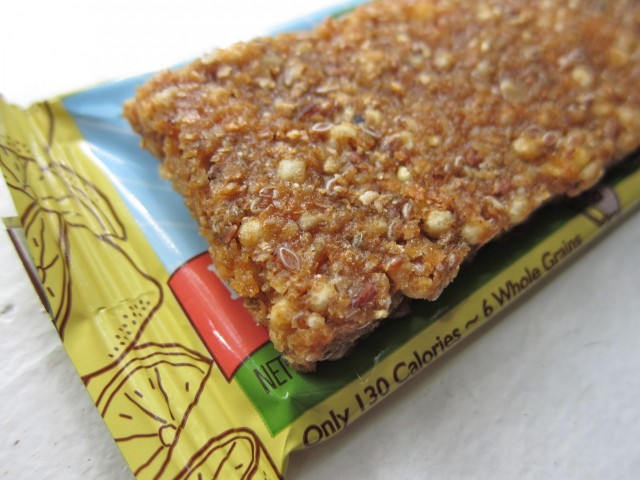 Gnu lemon ginger bar close-up