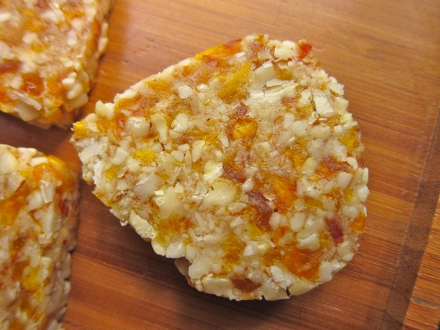 Raw nectarine dream cookie close up