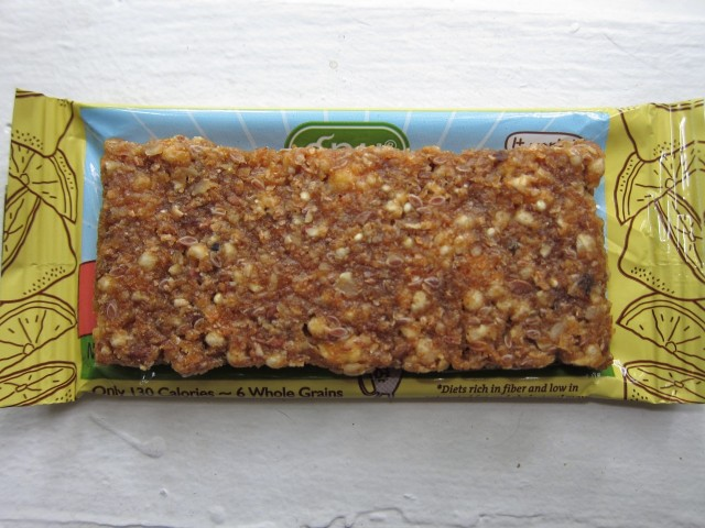 unwrapped Gnu lemon ginger bar