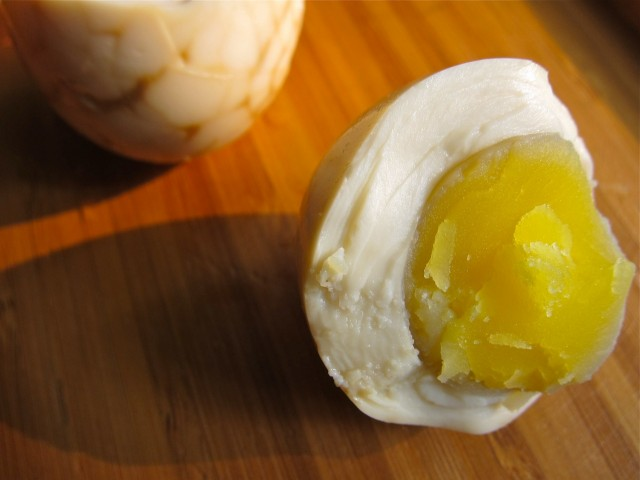 Chinese tea egg creamy yolk