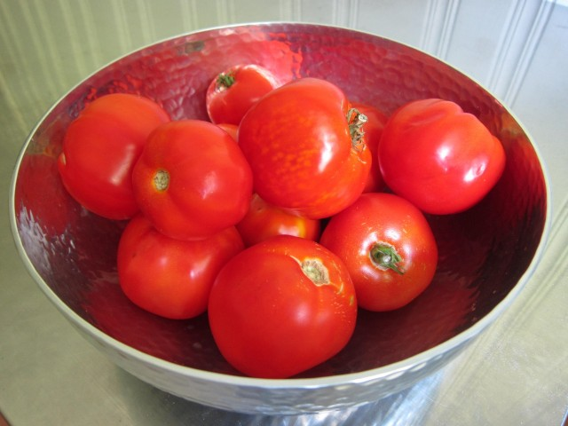 Gorgeous homegrown tomatoes