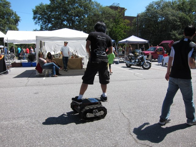 Remote controlled skate board
