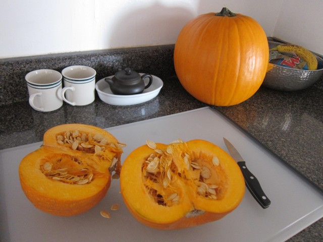 organic pumpkin for roasting