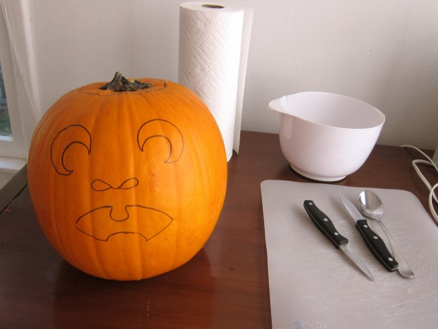pumpkin ready for carving
