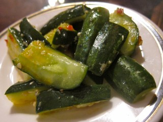 Cafe 101 spicy cucumbers