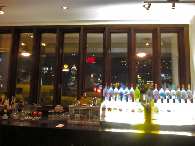 View of city from bar