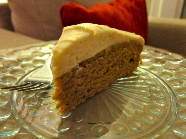 Slice of apple cake