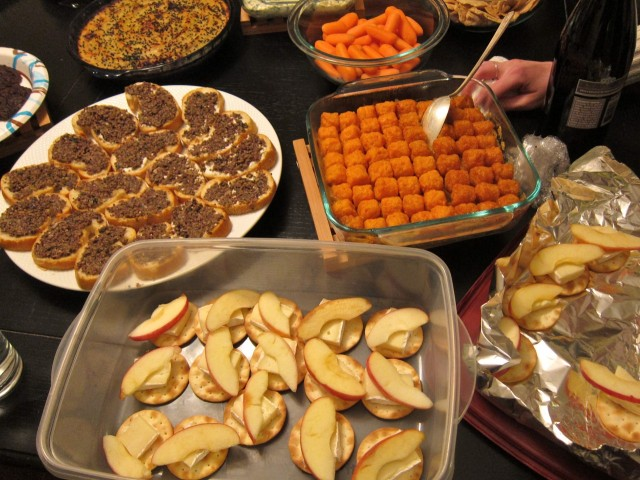 Potluck spread 1