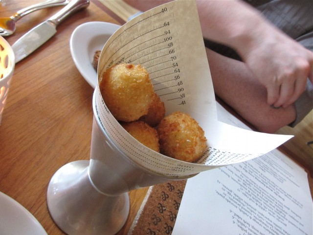 Arancini with citrus and fennel pollen