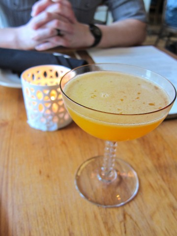 Orange and honey cocktail