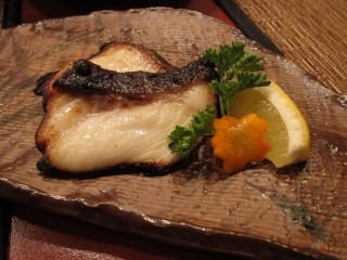 Black cod misoyaki at Amu