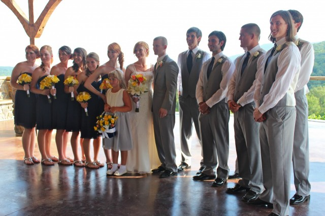 Bryan and Caitlin's wedding party