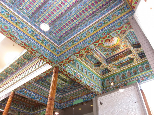 Ceiling in Dushanbe Teahouse