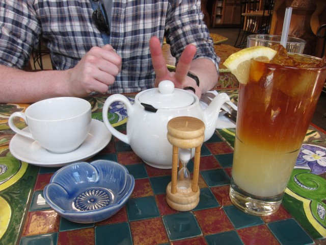 Jeff's tea and my tea cocktail