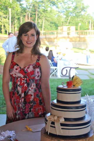 Posing with my cake