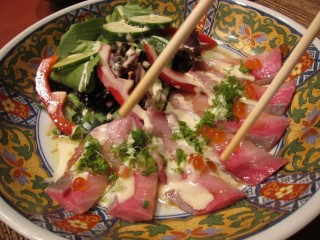 Red snapper carpaccio at Amu