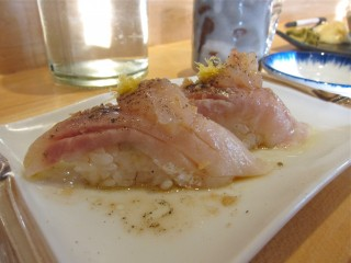 snapper with yuzu at Tora