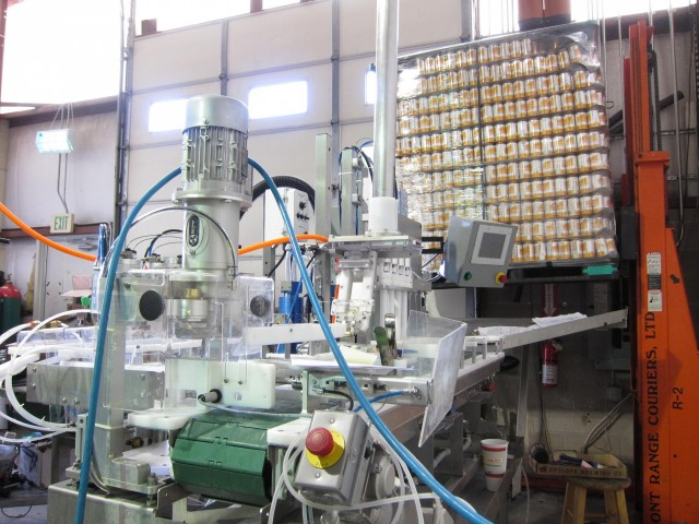 Upslope canning machine