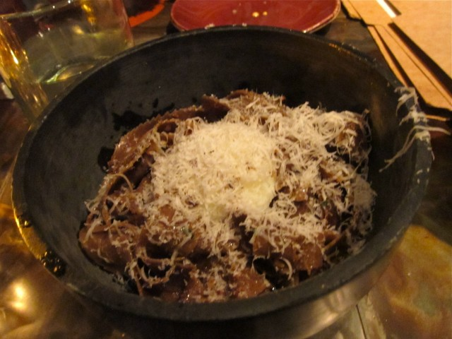 Porcini and shortrib pasta