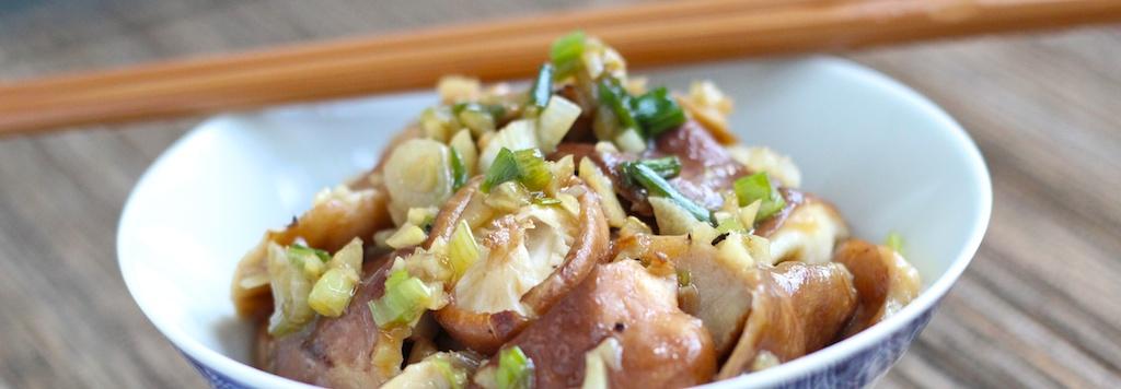 Garlicky Shiitake Saute