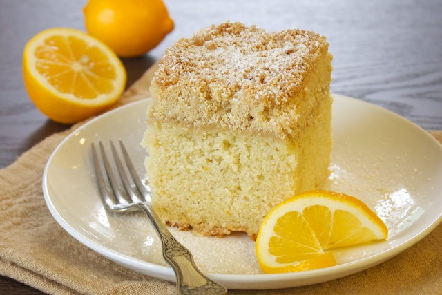 Lemon ginger coffeecake