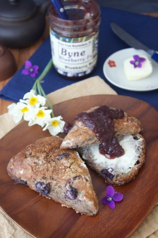 Blueberry buckwheat scones