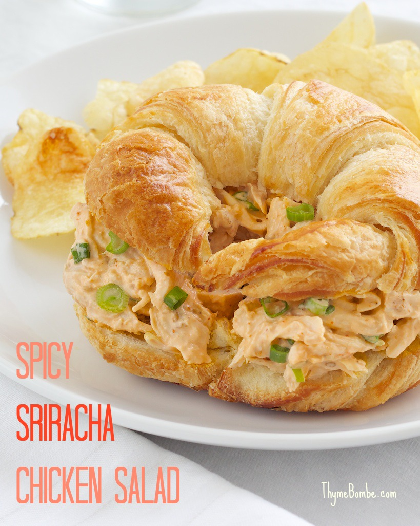 Spicy Sriracha Chicken Salad Thyme Bombe