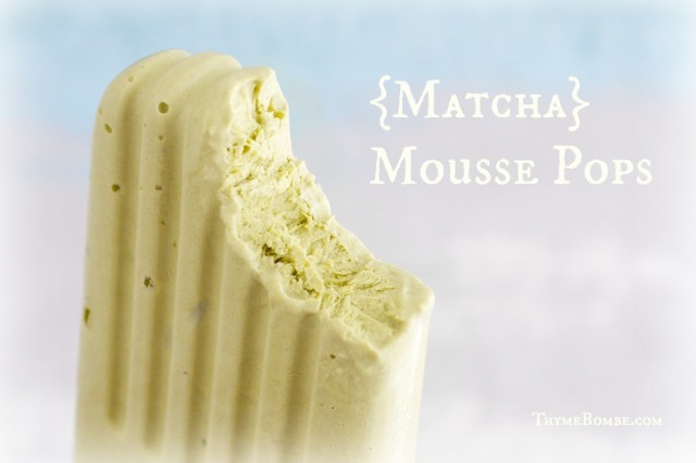 Matcha Mousse Pops